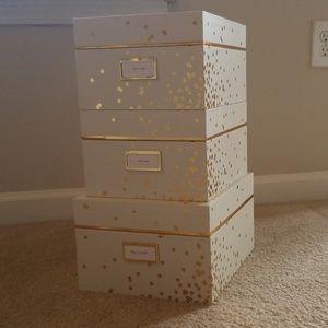 Kate spade small Confetti dot nesting box